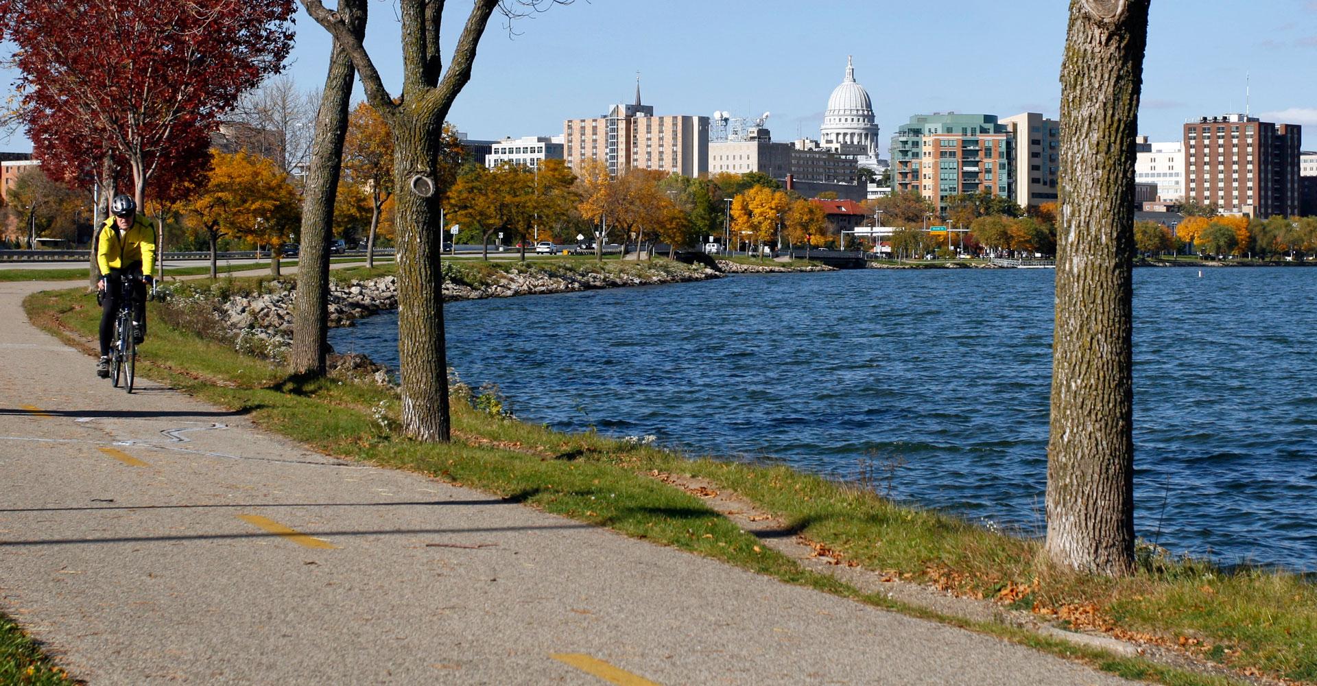 Bike trail in Madison.