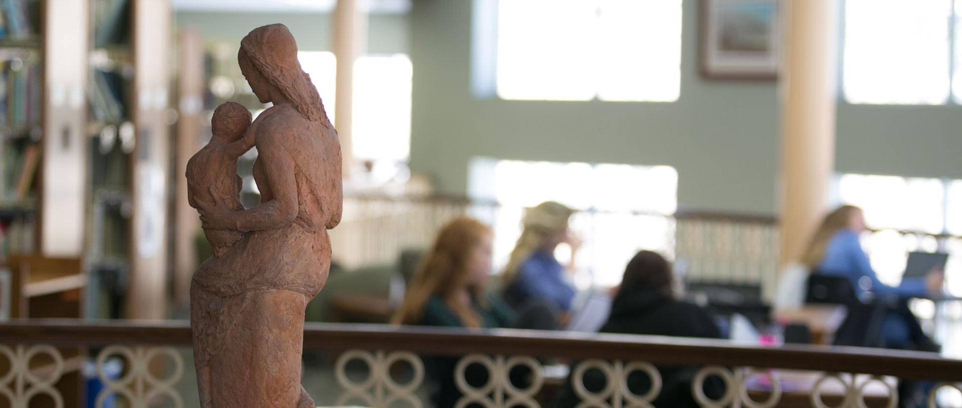 Undergrad-Library-Statue