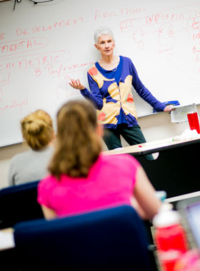 Instructor teaching class.