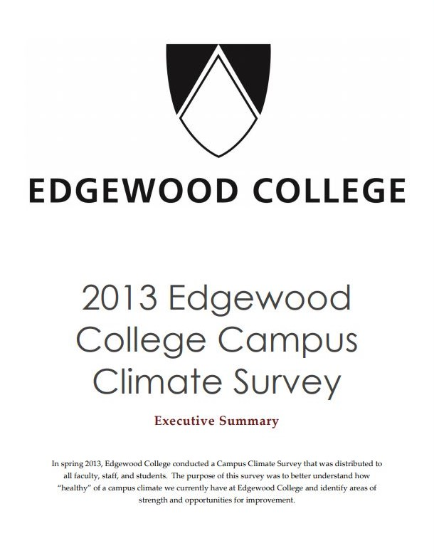 Cover of 2013 Climate Survey