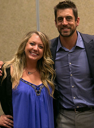 Ariel and Aaron Rodgers at Carbone fundraiser
