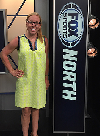 Julia Carey at Fox Sports studios