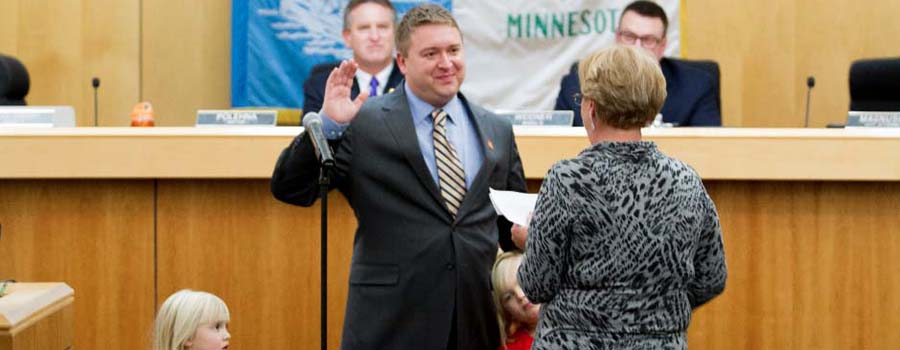 Ted Koslowski swearing-in ceremony