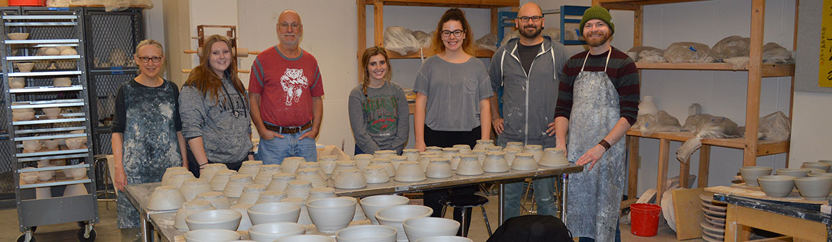 The artists with the bowls