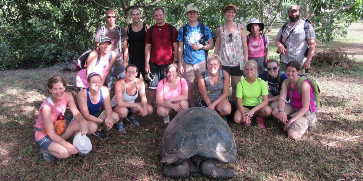 The group in the Galapagos