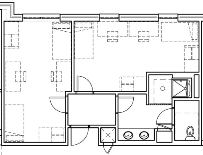 Dominican Double Floor plan example
